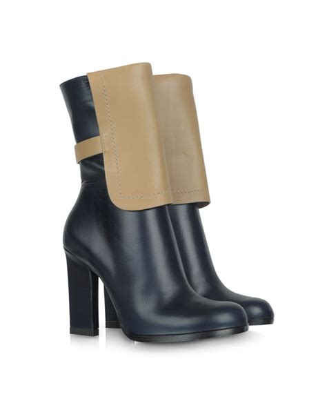 color block leather ankle boot shoes post