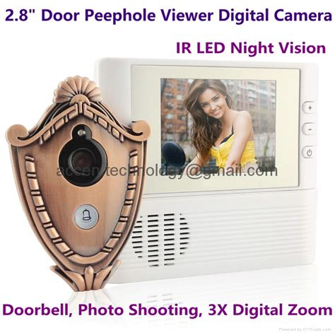 2 8 quot digital door peephole viewer ir vision