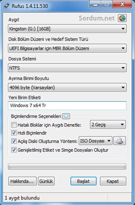 rufus tutorial windows 7 uefi bootable uefi i 231 eren usb bellek oluşturalım