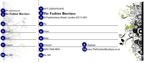 fashion show ticket template fashion show gift certificate