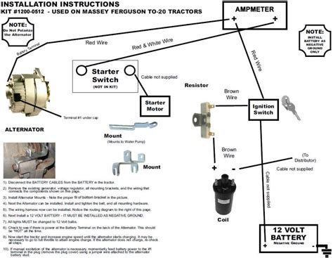 one wire alternator wiring diagram mey ferguson one wire