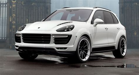 porsche suv white 2017 topcar shows white porsche cayenne vantage 2015 kit
