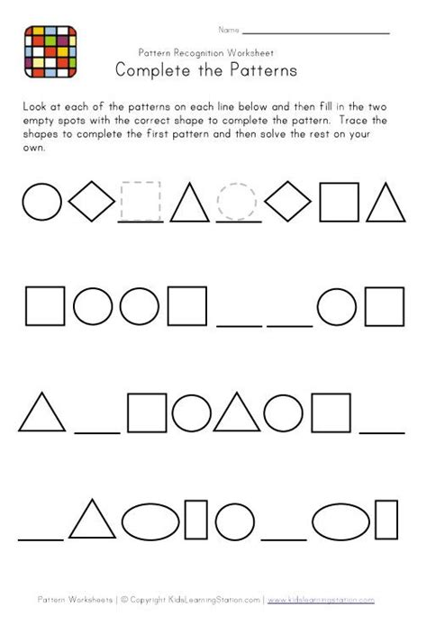 pattern making worksheets kindergarten 17 best images about maths patterning on pinterest free