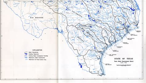 map of texas lakes and rivers map of texas rivers pictures to pin on pinsdaddy