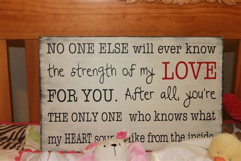 strength of my love quote new mother s gift sign baby