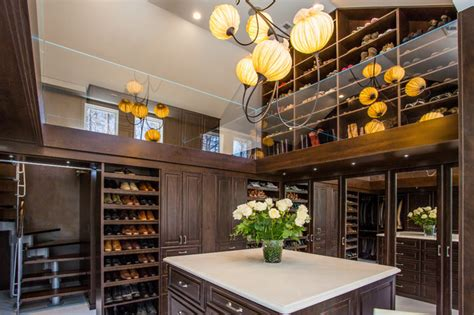 Two Closets by Luxury Two Story Master Closet Traditional Closet