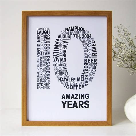 10 Stylish 10 Year Anniversary Gift Ideas For Couple 2019