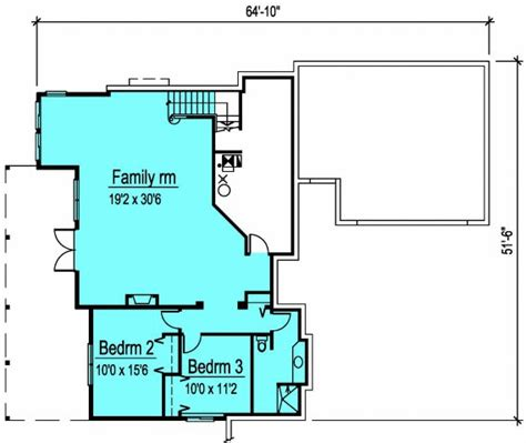 bungalow floor plans with basement hillside bungalow house plan hunters