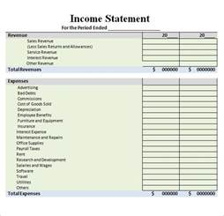 income template 6 free income statement templates word excel sheet pdf
