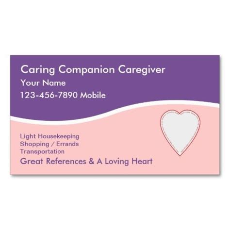 caregiver business cards templates 1000 images about caregiver business cards on