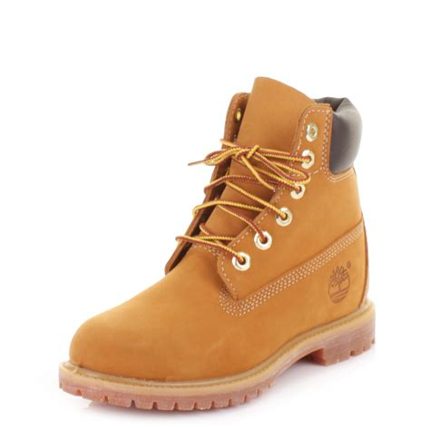womens timberland 6 inch premium wheat nubuck leather