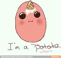 potato tattoo ice cream cone unicorn kawaii potato image 2353883 by