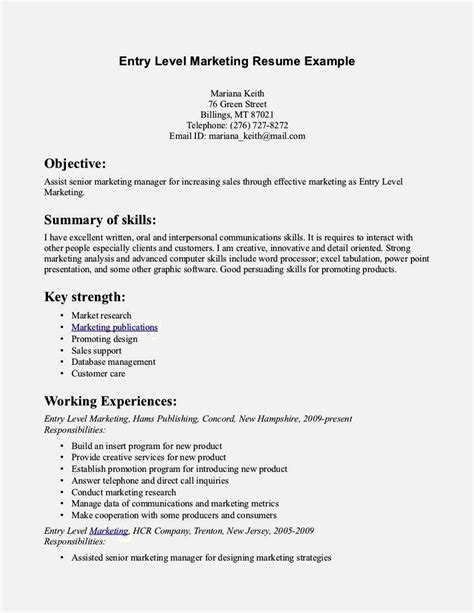 Entry Level Clerical Resume Sles Resume Template Cover Letter Entry Resume Template