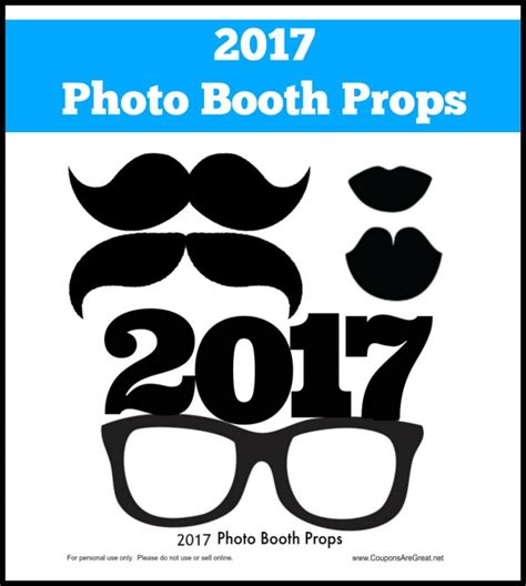 printable photo booth props new years 2016 diy project make your own new years eve photo booth props