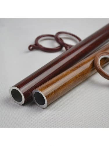 thick curtain rod qyt2220 28mm super thick wood grain aluminum alloy single