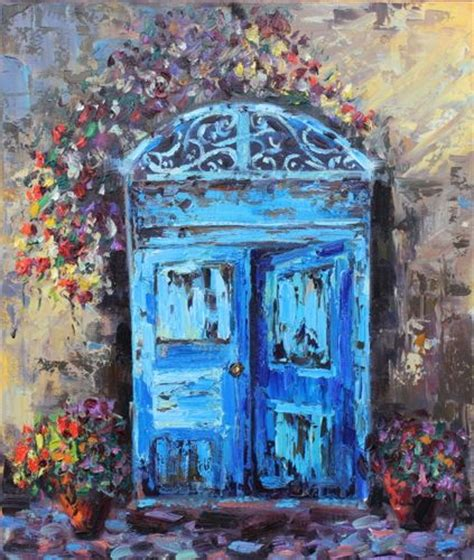 blue doors italy by terry ouimet
