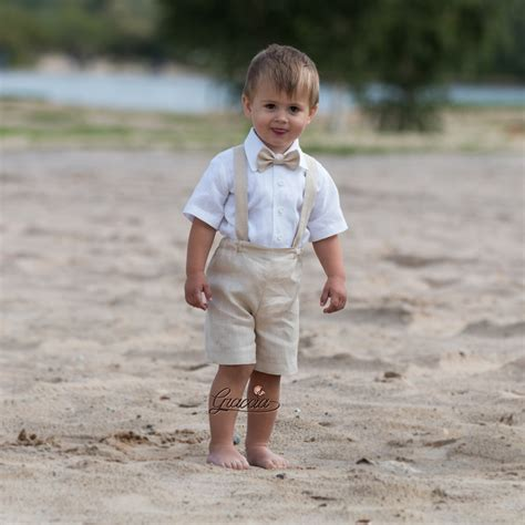 Wedding Attire For Toddlers by Ring Bearer Baby Boy Baptism Clothes Boy Linen Suit