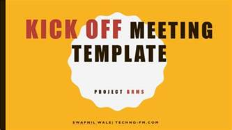 Meeting Powerpoint Template project kickoff meeting template free free