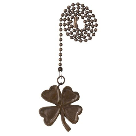 bronze fan pull chain westinghouse antique bronze four leaf clover pull chain