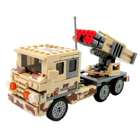 Emco Brick Army Missile Truck army desert missile truck lego compatible other
