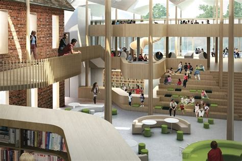 Library Interior Design Concept by Shortlist For Marrickville Library Design Architectureau
