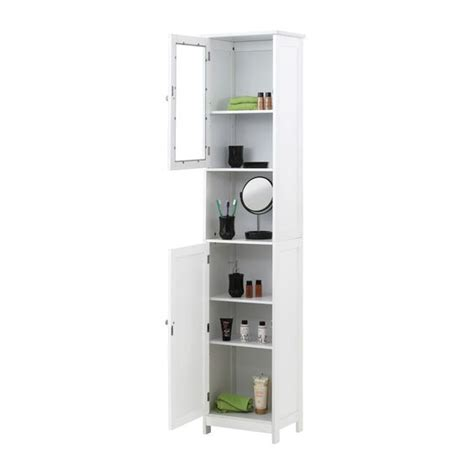 bathroom tower cabinet white details about bathroom linen cabinet white wood tower