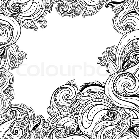 frame patterned wallpaper paisley patterned frame trendy modern wallpaper or
