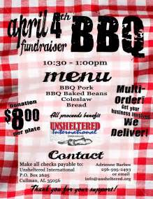 bbq fundraiser flyer template bbq benefit flyers templates related keywords bbq