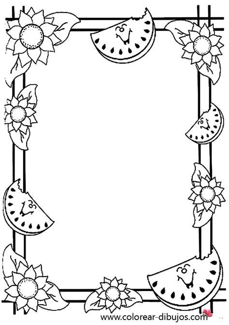 recortar imagenes varias peques y pecas marcos con hojas para colorear
