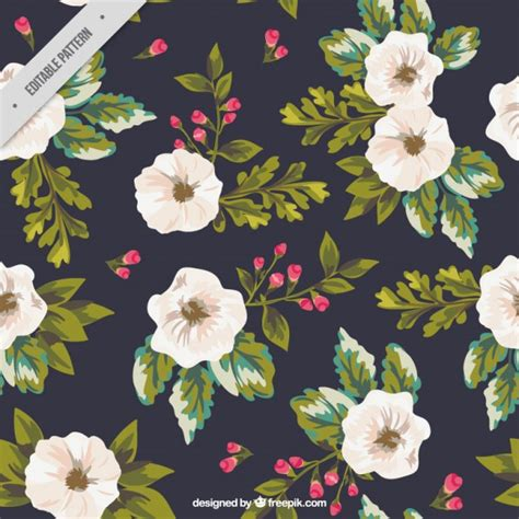 Painted Flower painted flowers background vector free