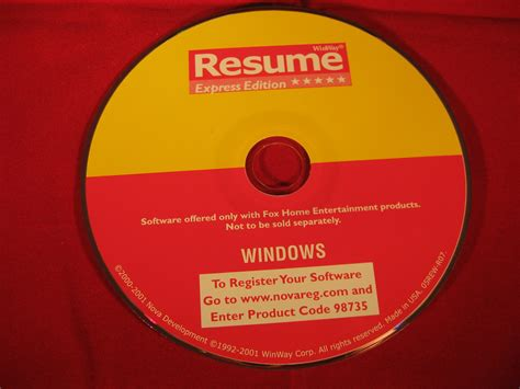 winway resume express edition 2001 resume builder for pc