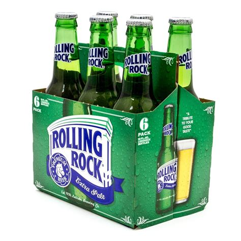 rolling rock extra pale premium beer 12oz bottle 6