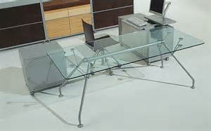 glass l design prospero executive italian glass desks and colourful
