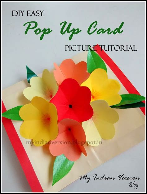 pop up greeting card tutorials diy easy pop up card photo tutorial tutorials cards