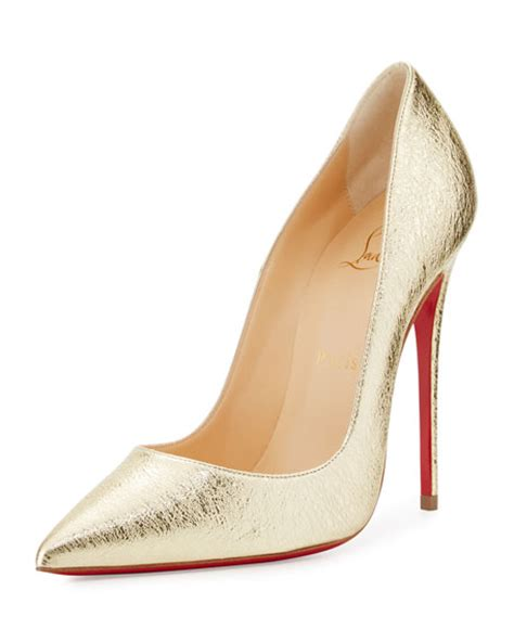 Shoes Christian Louboutin Luxury Gold Po20 christian louboutin so kate metallic 120mm sole gold