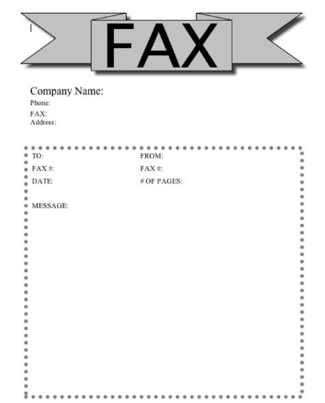 printable fax cover sheet  printable pages