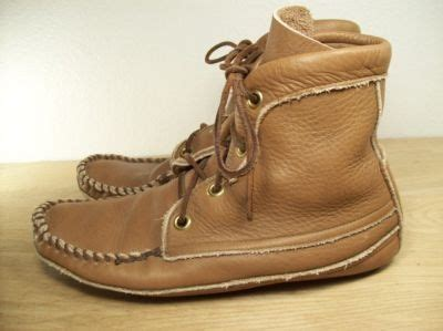 Mens Handmade Moccasins - vintage handmade leather s indian moccasin boots