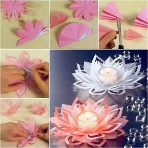 Paper Lotus Flower Template Ideas Products Diy How To Make Paper Flower Candle