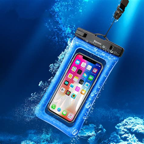 Waterproof Airbag baseus ipx8 waterproof airbag floating screen touch phone