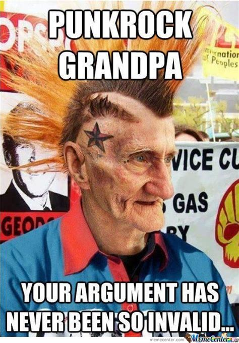 Punk Rock Memes - punkrock grandpa by helmi metalhead meme center