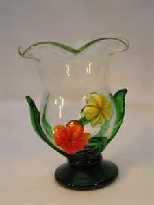 Glass Vase With Flowers by Antiques Atlas Clear Glass Vase With Applied Flowers
