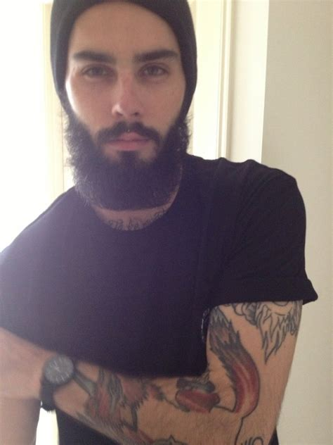 beard tattoo guys in beanies yea on beanie beanies and