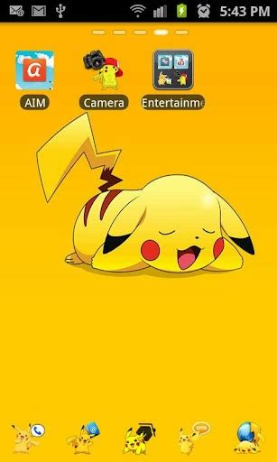 theme line android pikachu pikachu pokemon theme app for android