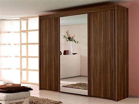 new york 3 door 1 mirror sliding door wardrobe in walnut