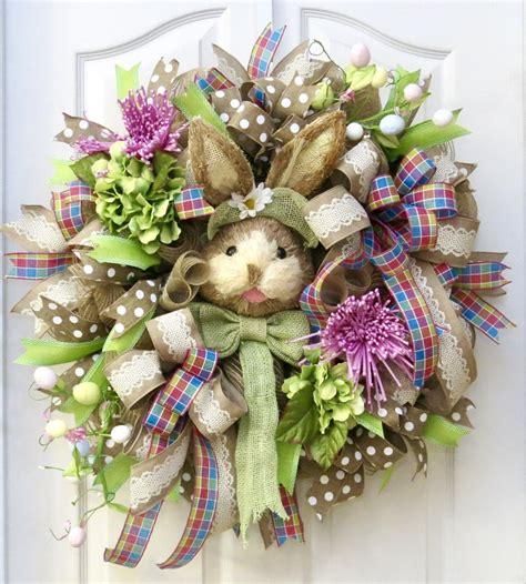 Easter Wreaths For Front Door Easter Wreath Easter Bunny Wreath Front Door Wreath Deco
