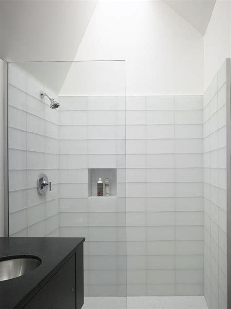 Modern Subway Tile Bathroom Designs 17 Best Ideas About White Tile Bathrooms On Pinterest White Subway Tile Bathroom Shower Tile