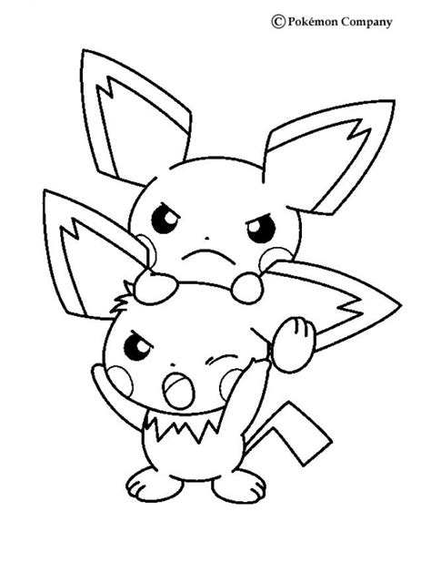 electric pokemon coloring pages pichu coloring pages hellokids com