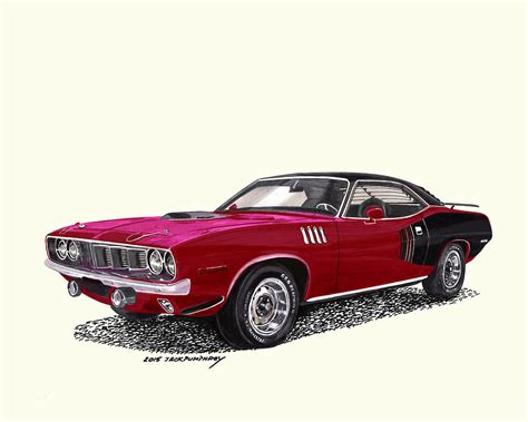 painting plymouth plymouth barracuda hemi painting by pumphrey