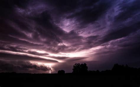 clouds sun horizon trees dawn night storm darkness dreams