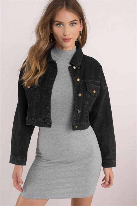 Cropped Denim Jacket Lois collection of black cropped jacket best fashion trends